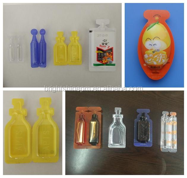 De plástico de la ampolla formando de llenado y sellado de la máquina y la máquina de etiquetado