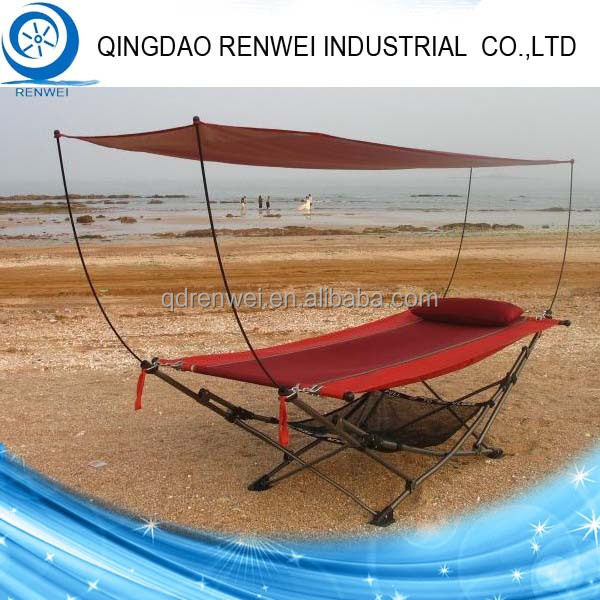 Steel Folding Hammock Stand with Canopy/Outdoor Hammock Stand - Steel Folding Hammock Stand With Canopy/outdoor Hammock Stand