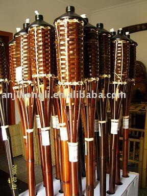 Linterna de bamb natural para el jard n o la decoraci n for Antorchas para jardin