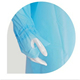 Reflective safety clothing red nitrile coated gloves pvc shoe cover