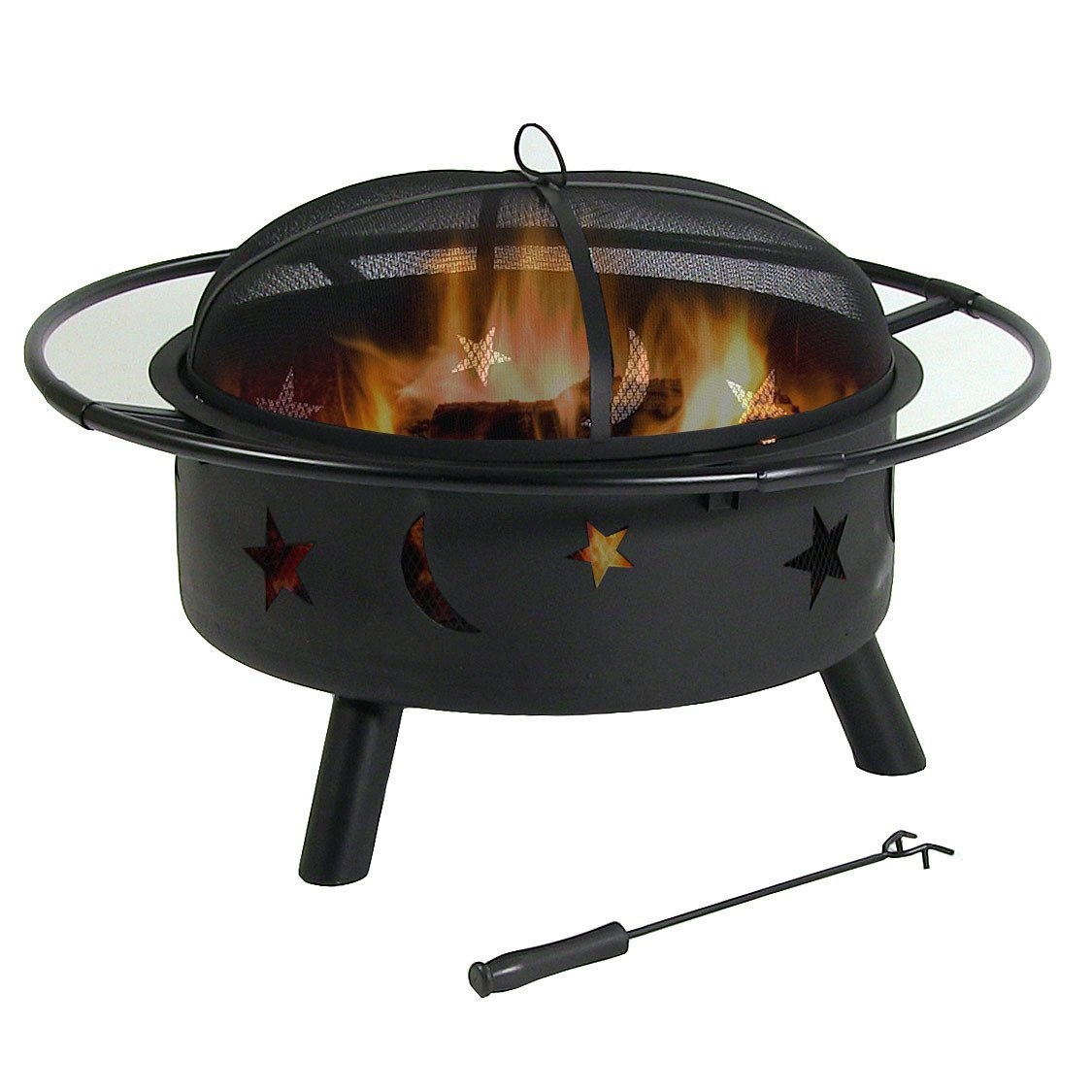Get Quotations · Sunnydaze 30 Inch Stars and Moons Wood Burning Fire Pit  with Wood Grate and Spark Screen - Cheap Whalen Fire Pit, Find Whalen Fire Pit Deals On Line At Alibaba.com