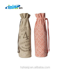 Factory custom logo cotton wine beer bottle package bag