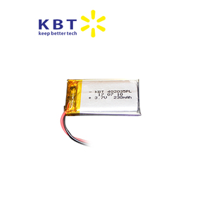 402035PL230mAh electric bike recharge lithium polymer battery