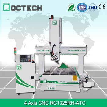 Roctech wood working machines cnc machinary 4 axis cnc wood engraving machine RC1325RH - ATC for sale