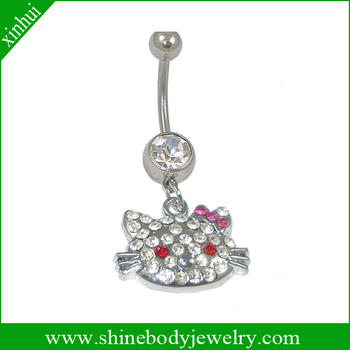Hello kitty navel piercing rings body jewelry buy hello for Types of body jewelry rings