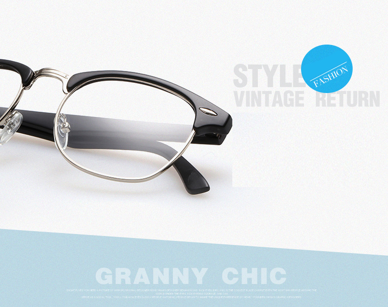 Fashion Brand Designer Round Clear Computer Optical Eye Glasses Frame Eyeglasses Men Frames for Women Eyewear Oculos de grau