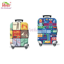 Promotional fashion design any color printed fabric suitcase bag protective diy custom luggage cover