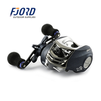 FJORD Smooth Dual Braking System 12+1BB Baitcasting Fishing Reel Low Profile Bait Casting Reel
