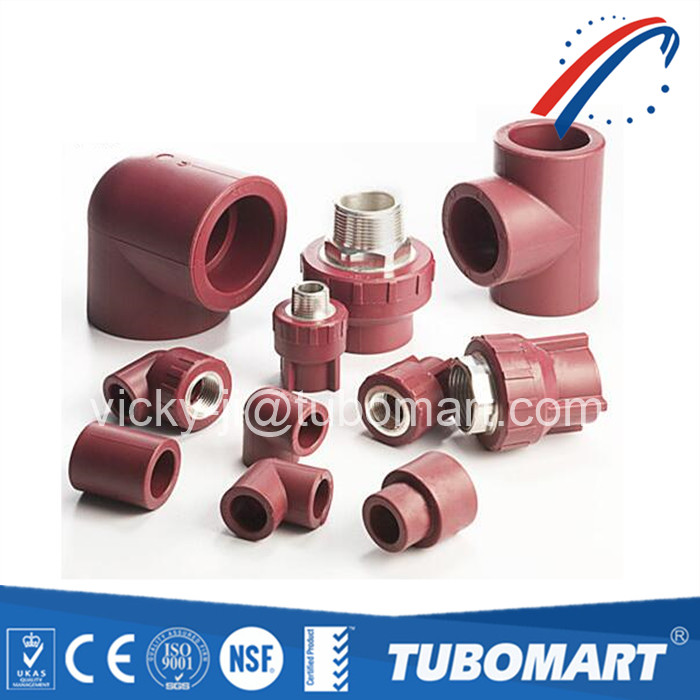 Brown female male thread plastic Ppr PPR Union Adaptor Fittings for ppr pipe