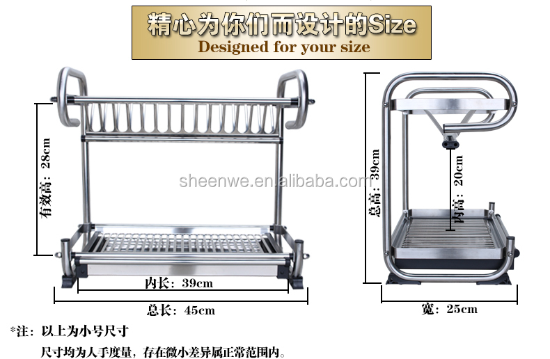 WDJ440-460 Guangzhou Modern kitchen designs stainless steel dish rack /waterproof 2 tier wall  sc 1 st  Guangzhou SHI-WEI Metal Products Co. Ltd. - Alibaba : stainless steel wall mounted plate rack - pezcame.com