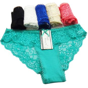 5e0768a4d Mulheres Sexy lingerie de renda e algodão respirável calcinhas para a  rapariga pantise stock atacado