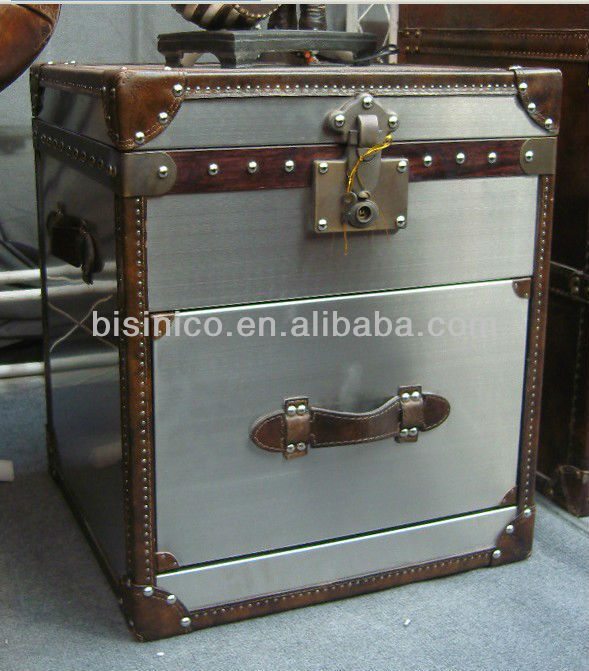 Metal Storage Chest Decorative Bins End Table B260197 Bin Square Product On Alibaba