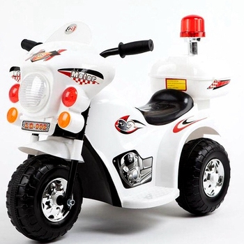 Battery police ride on car toys kids electric motorcycle 5colors with 4 wheel