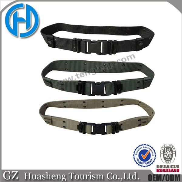 High quality army tactical belt with plastic buckle