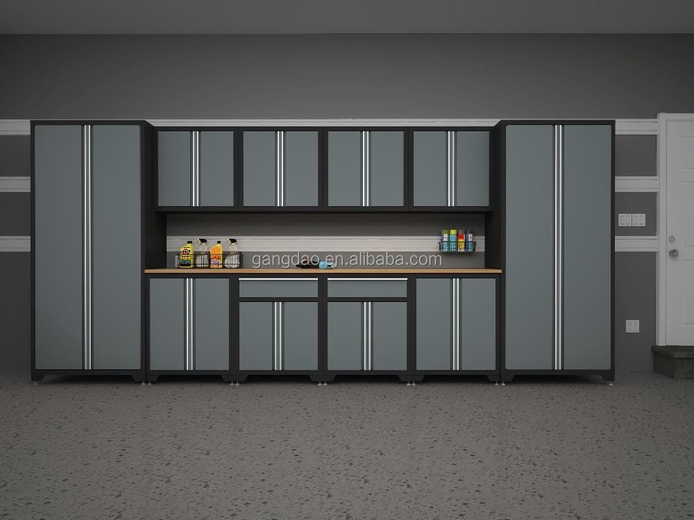 Montado en la pared armario de herramientas acero para garaje con dos puertas armario de - Armarios para garaje ...
