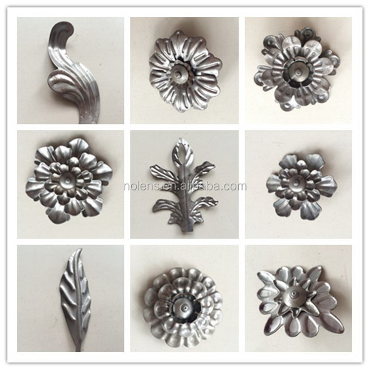 Wrought Iron Metal Stamping Leaves/ Stamped Iron Flowers And ...