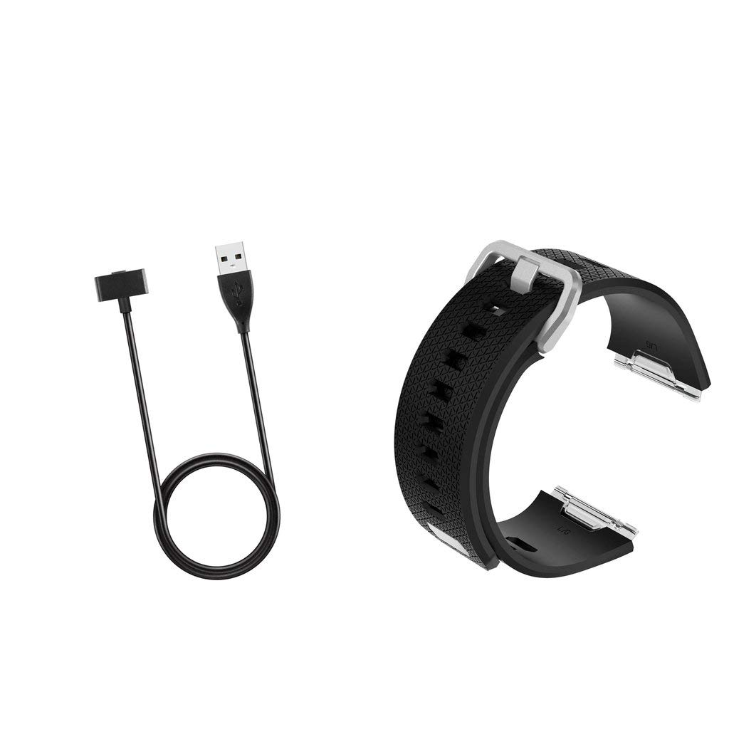 Homyl For Fitbit Ionic Charger, Replacement USB Charging Cable Cord Charger Cradle Dock Adapter for Fitbit Ionic + Fitness Tracker Wristband for Fitbit Ionic Smart Watch