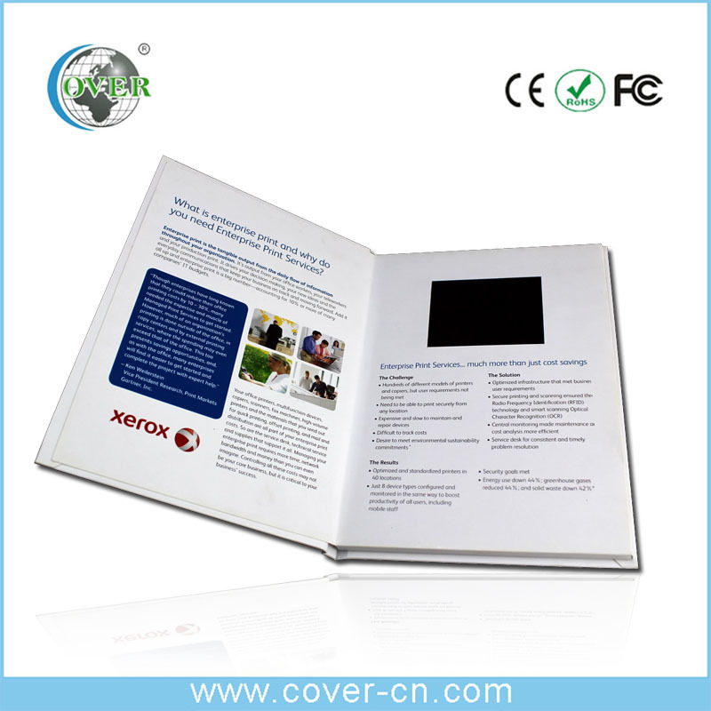 LCD customized video greeting card/Advertising video card