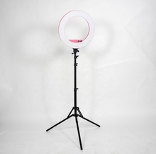 "18 ""dimmbare Selfie Ring Licht rosa mit 2 M Stehen und Handy Halter für Live-Stream/Make-Up, led Ringlight für YouTube <span class=keywords><strong>Video</strong></span>"