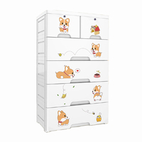 3 Tier cartoon cabinet home baby wardrobe children's locker box