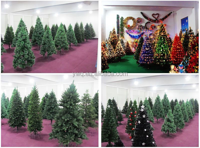 2.6m Bendable Christmas Tree White Tip PVC Christmas Tree Pull Up Christmas  Tree