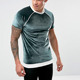 luxury clothing men velour piped seams muscle short sleeve raglan t shirts with rib hem
