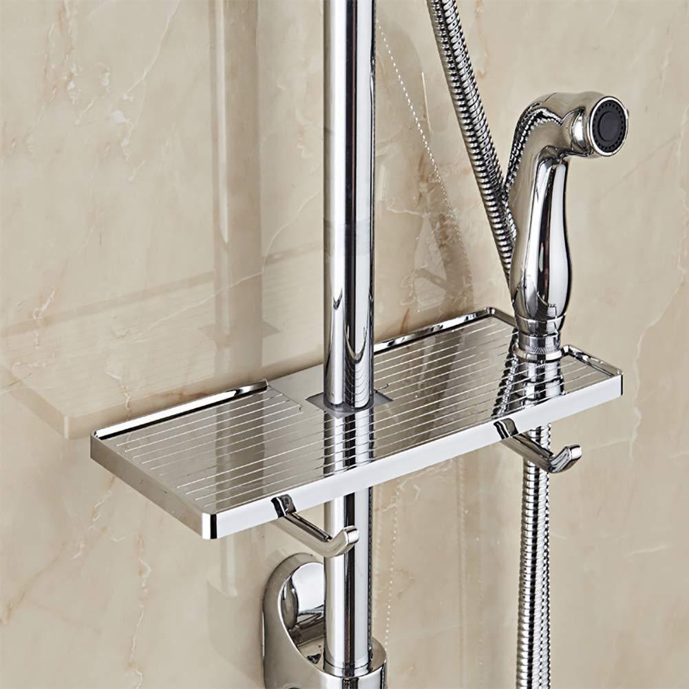 Get Quotations · Velidy Bathroom Shelf Shower Storage Rack Holder Shampoo  Bath Towel Drawer Home Bathroom Shelves Single Tier