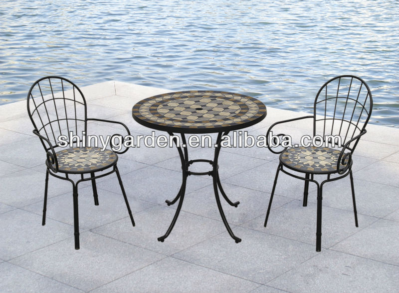 muebles de jardín moderno silla plegable y mesa bistro conjunto con ...