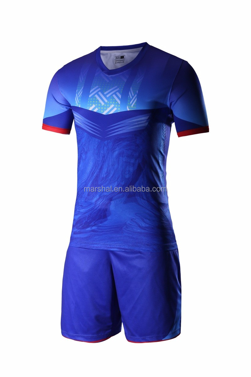 ee9742cc9 Wholesale mens quick dry football training uniform soccer game set jersey  design thailand quality