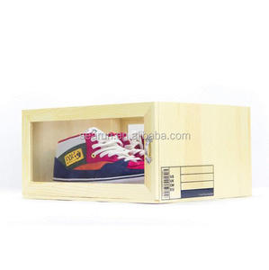 Custom luxury pine wood wooden shoe box wooden packaging box for shoes