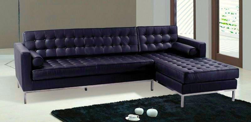 Black Leather Barcelona Style Sectional Sofa Modern Product On Alibaba
