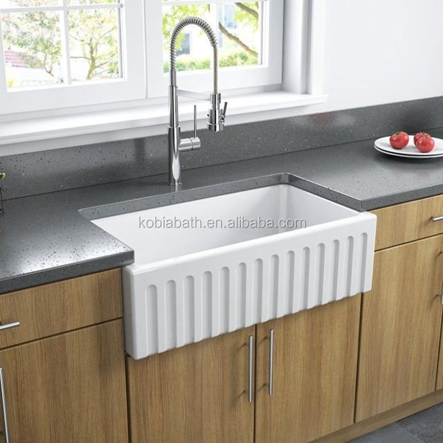 Farm House Kitchen Sink Artificial Stone Apron Front Sink