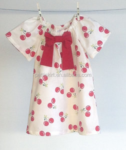 Fashion design smalle girl dress latest dress patterns for girls baby cherry dress