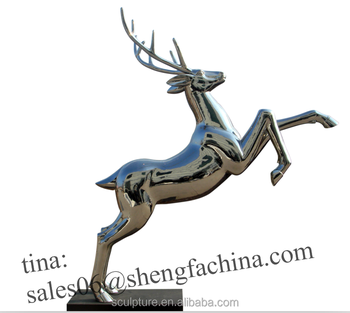 Stainless Steel Outdoor Small Deer Statue Garden Statues For Decoration