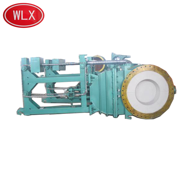 Low pressure wedge water cooled hot blast valve for metallurgy industry