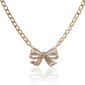 2015 fashion design jewelry bow pendant necklace gold chains crystal 2015 fashion design jewelry bow pendant necklace gold chains crystal bow necklace costume necklace aloadofball Images