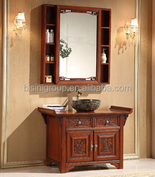 Luxury Chinese Style Antique Wooden Bathroom Vanity,Traditional Bathroom  Furniture With Mirror(bf08-4443) - Buy Custom Bathroom Vanity,Antique ...