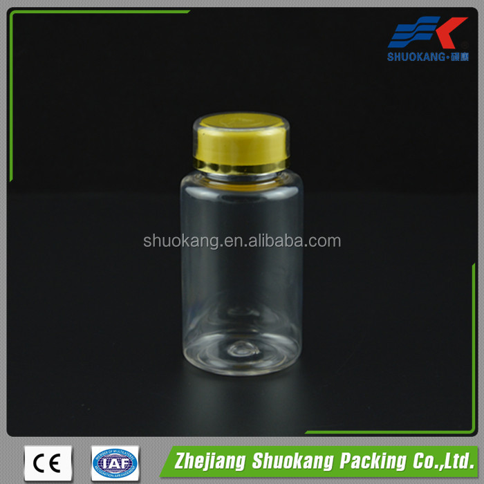 Packaging companies, pet transparent plastic bottle 150ml for vitamins supplement packaging