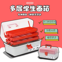 Three layer plastic receiving boxMakeup Cosmetic Case Art Supply Craft Storage Tool Box