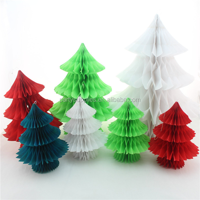 Tissue Paper Honeycomb Christams Decoration Paper Mache Christmas ...