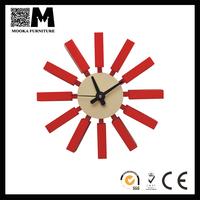 colorful sunflower shape fashion quartz wall clock metal&wood clock