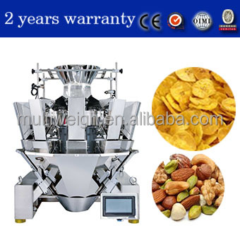 99% accuracy fully automatic multi head weighing vffs potato chips packing machine made in china