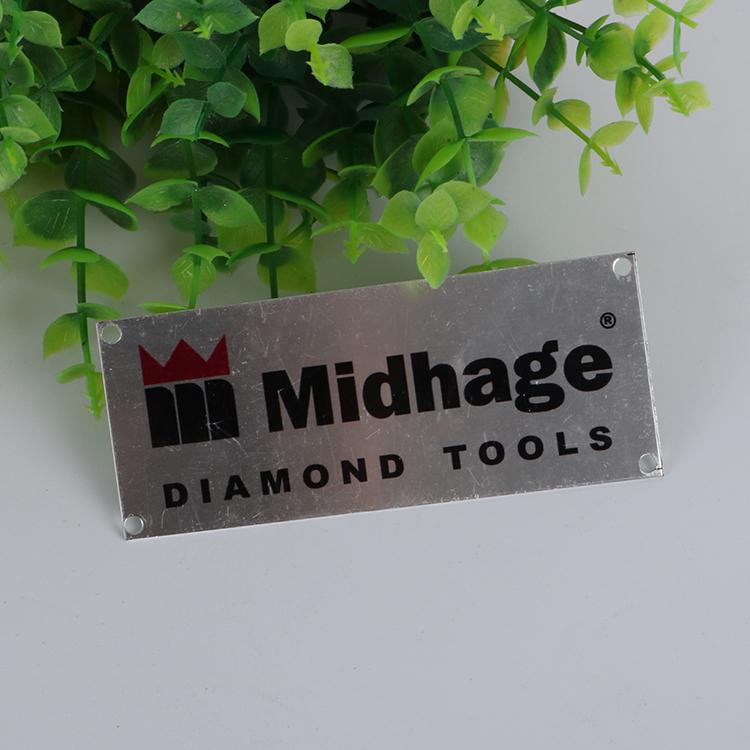 High quality metal logo tags engraved brand aluminium nameplates