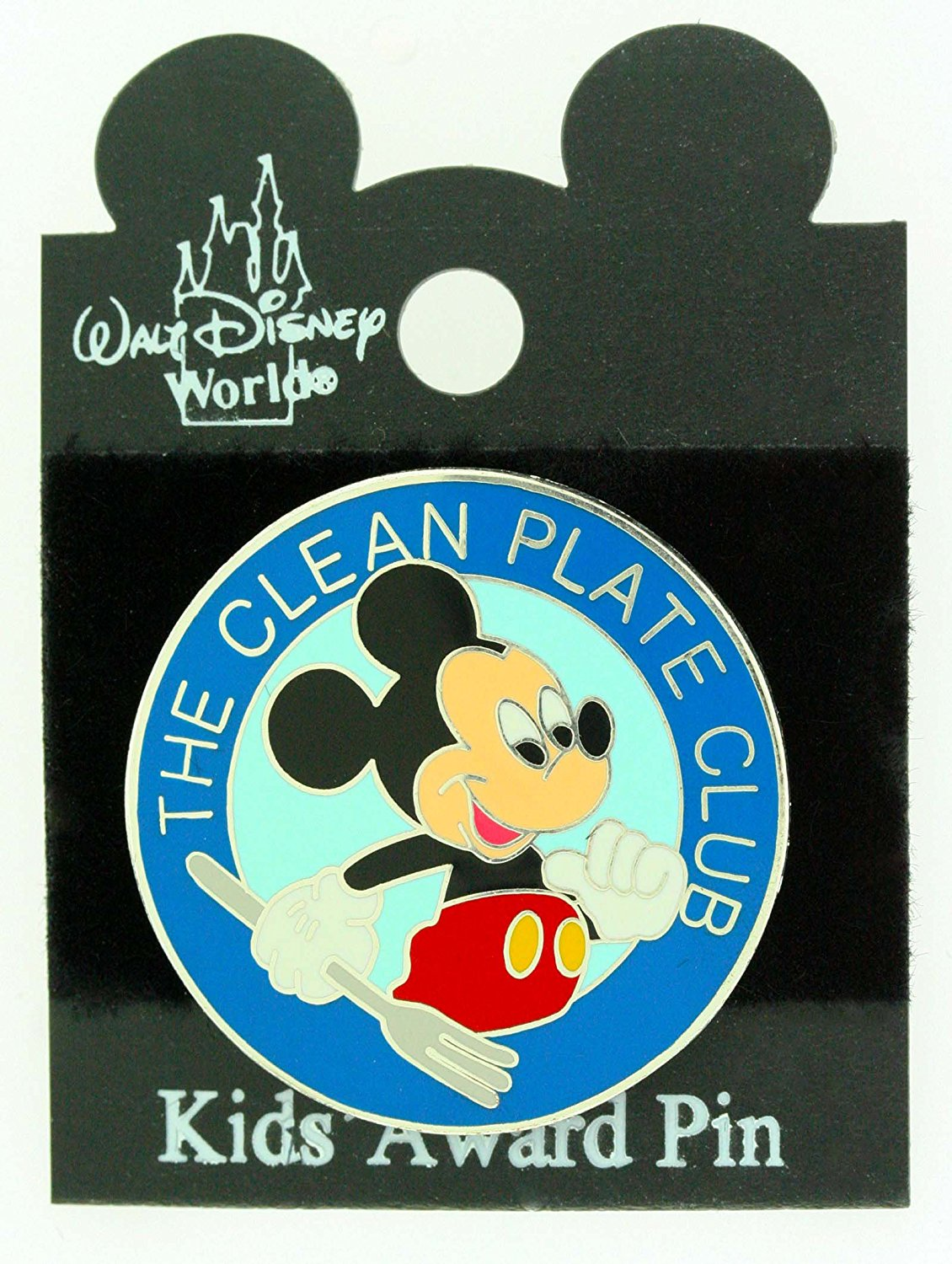"Disney Mickey Mouse ""THE CLEAN PLATE"" Award Trading Pin"