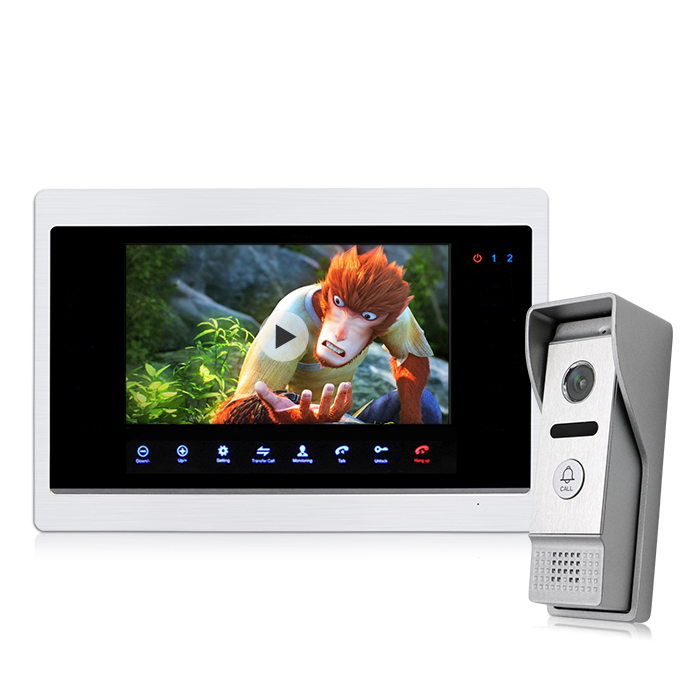 "Prezzo di fabbrica AHD 7 ""TFT LCD Touch Screen Intelligente Divertente Campanello con Costruito in Motion Detection"