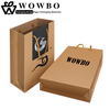 Logo Printed Take Away Recyclable Kraft Paper Bag with handle