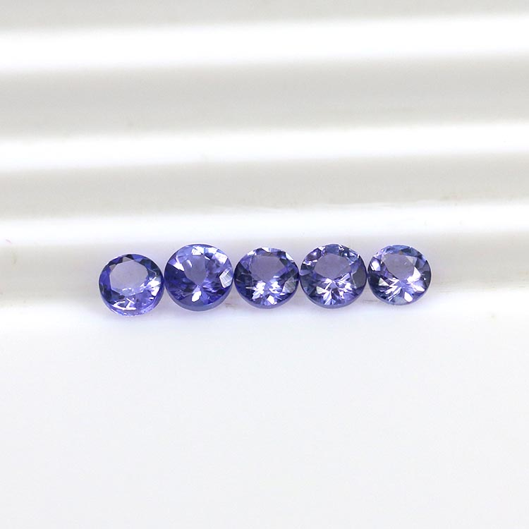 natural gemstone type round cut 3.0mm natural tanzanite prices loose gemstone for jewelry