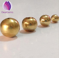 4mm natural color solid round spacer brass beads