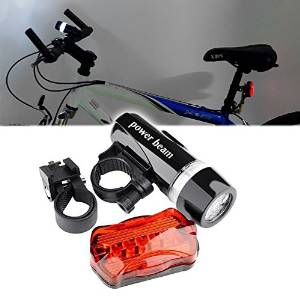 iSKYS Super Bright Bicycle Safety Light Set, LED Bike Bicycle Head Light and Rear Light for Night Riding. Quick Release, Weather and Water Resistant, Doubles as a Bright LED Flashlight