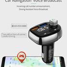 HY-90 qc3.0 usb car charger portable cd player fm transmitter with bluetooth function